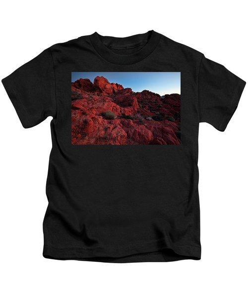 Last Light In Valley Of Fire Kids T-Shirt