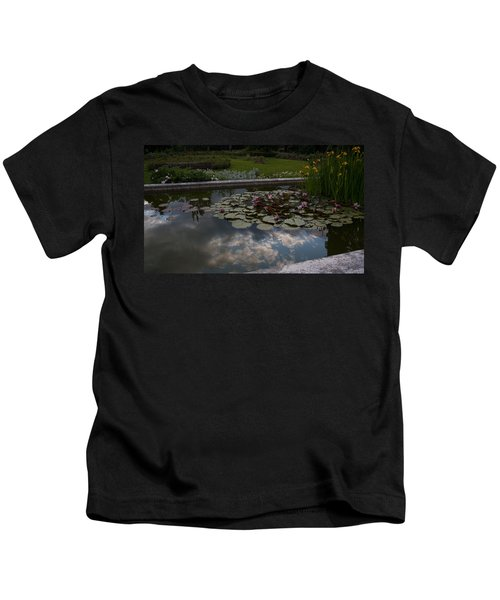 Lillies And Clouds Kids T-Shirt