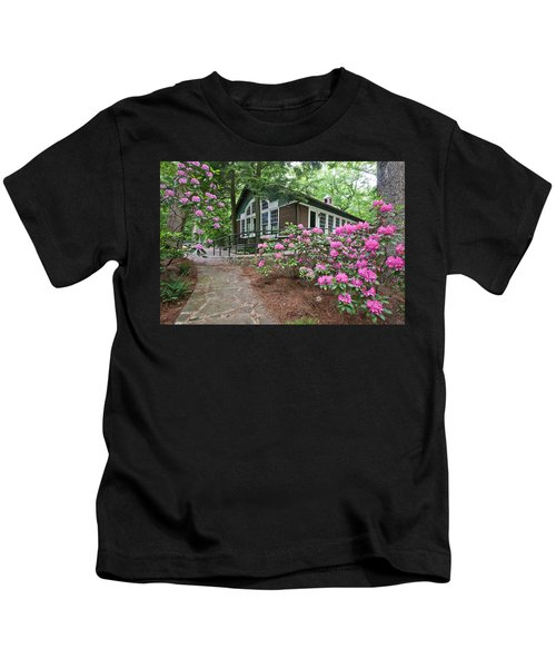 Little Brown Church In Spring Kids T-Shirt