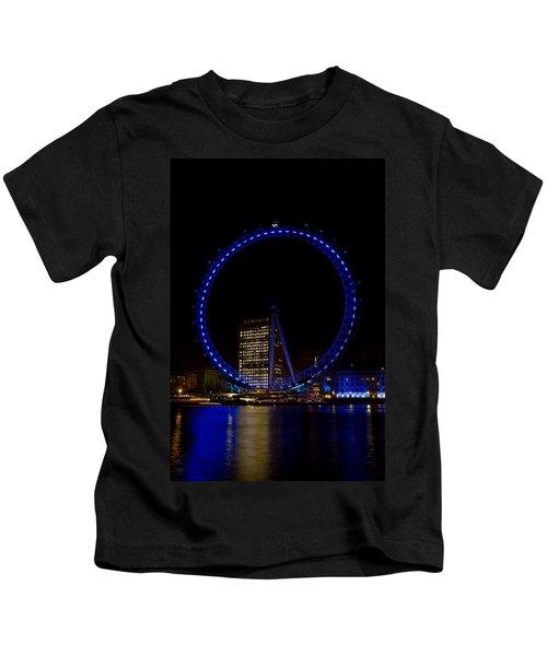 London Eye And River Thames View Kids T-Shirt