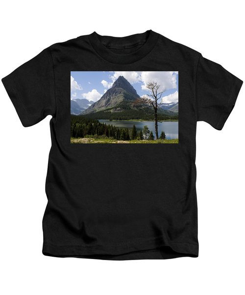 Lone Tree At Sinopah Mountain Kids T-Shirt