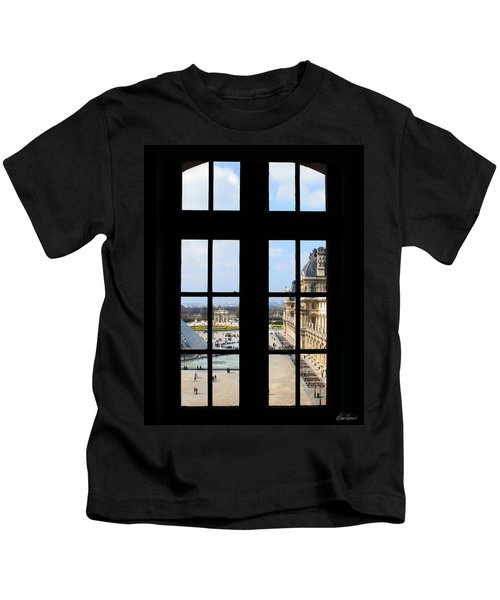 Louvre Window Kids T-Shirt