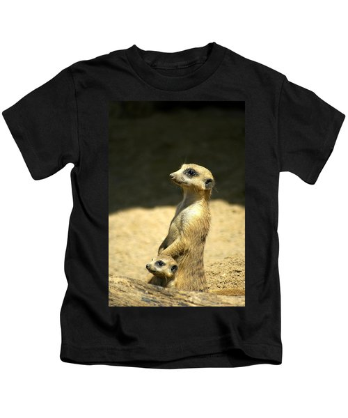 Meerkat Mother And Baby Kids T-Shirt