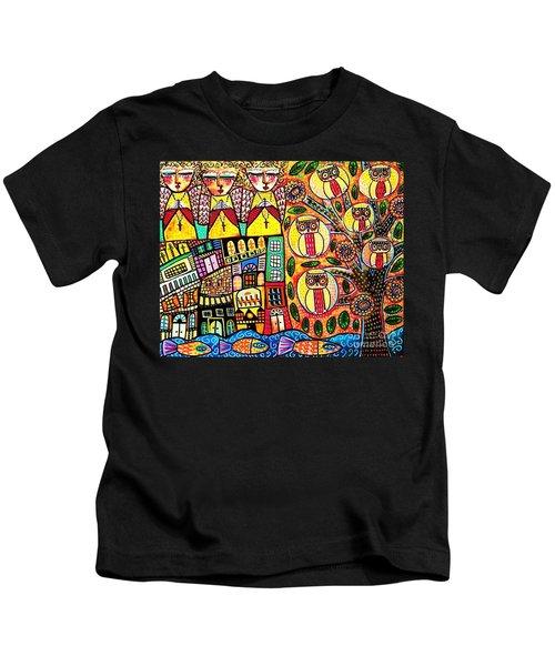 Mexican Seaside Village Kids T-Shirt