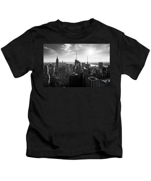 Midtown Skyline Infrared Kids T-Shirt
