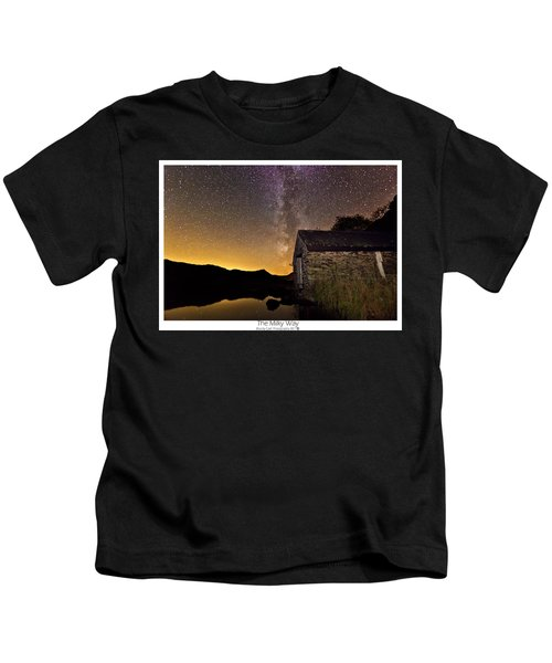 Milky Way Above The Old Boathouse Kids T-Shirt