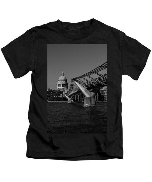Millenium Bridge And St Pauls Cathedral Kids T-Shirt