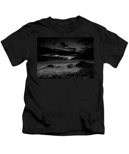 Monochrome Sunset  Kids T-Shirt