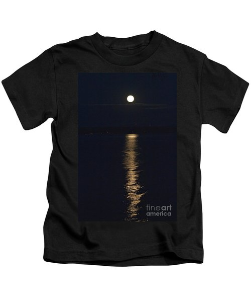 Moon Over Seneca Lake Kids T-Shirt