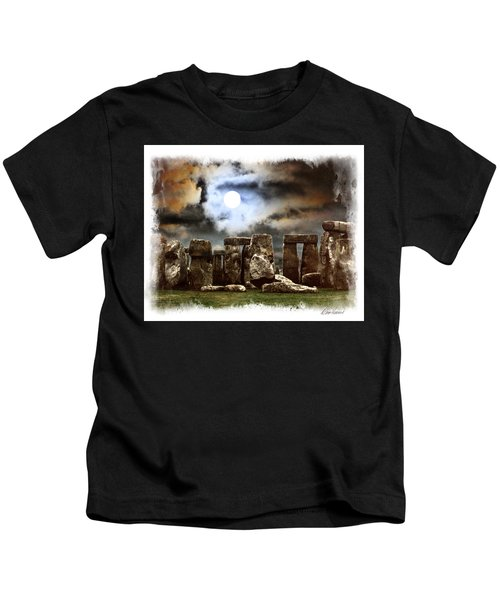 Moon Over Stonehenge Kids T-Shirt