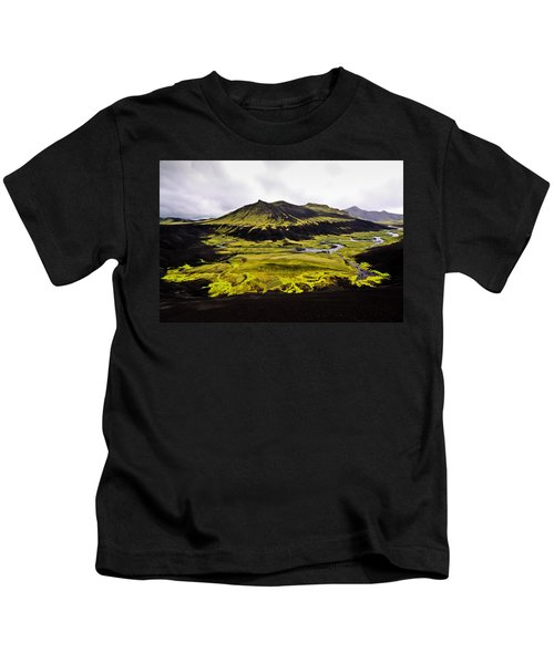 Moss In Iceland Kids T-Shirt