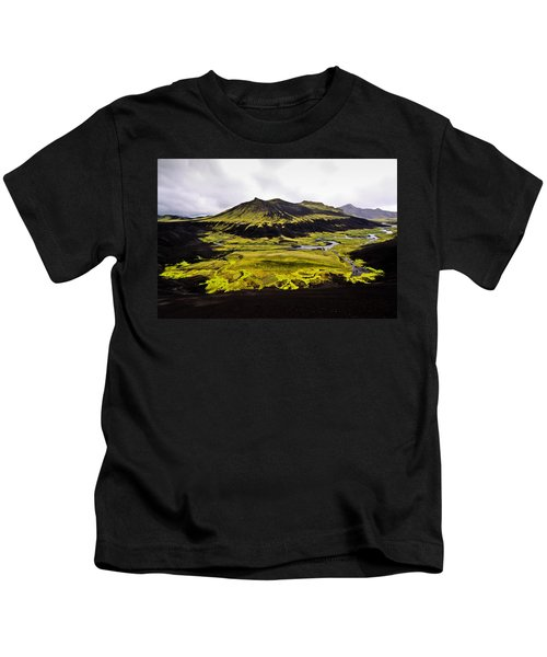 Moss In Iceland Kids T-Shirt