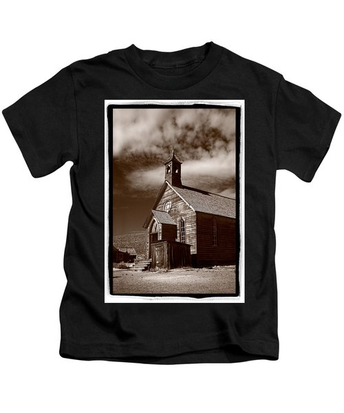 Old Church In Bodie California Kids T-Shirt