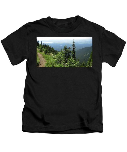 Panoramic Jewel Basin Montana Kids T-Shirt
