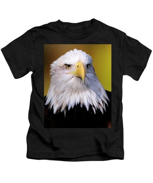 Portrait Of A Bald Eagle Kids T-Shirt