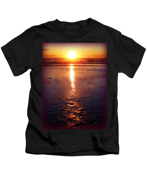 Purple Sunset Kids T-Shirt