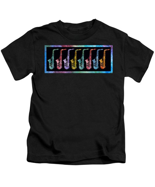 Rainbow Saxophones  Kids T-Shirt