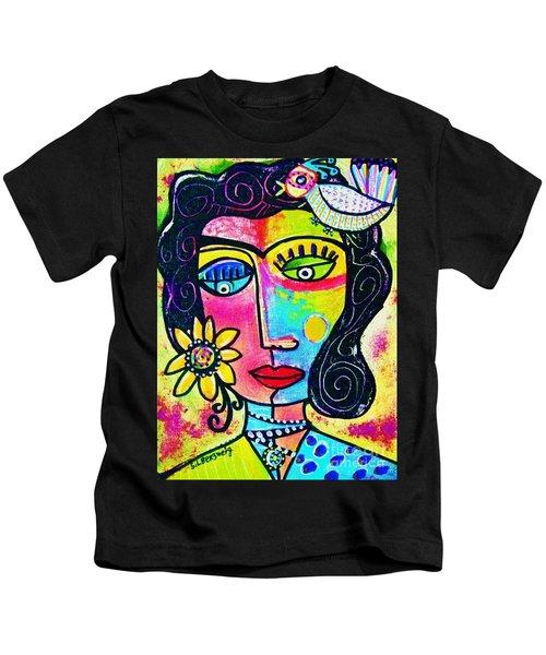 Rainbow Sunshine Frida Kids T-Shirt