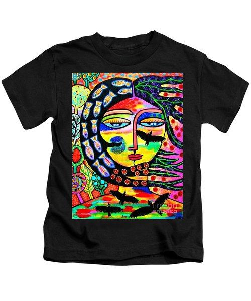 Raven Goddess Kids T-Shirt
