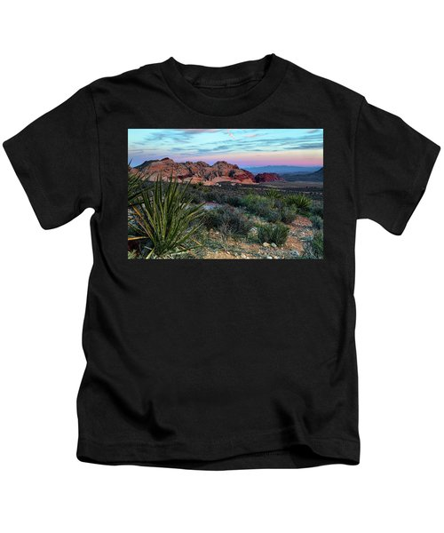 Red Rock Sunset II Kids T-Shirt