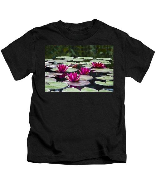 Red Water Lillies Kids T-Shirt