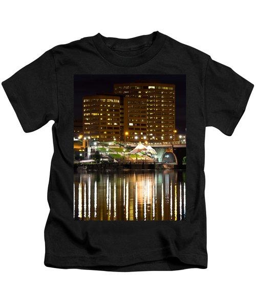 River Front At Night Kids T-Shirt