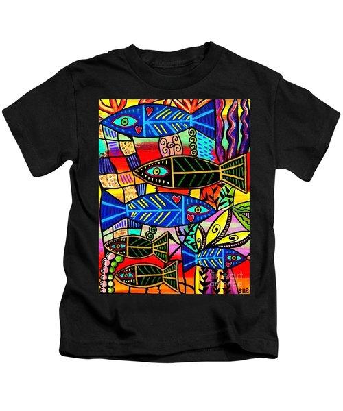 Ruby Coral Fish Kids T-Shirt