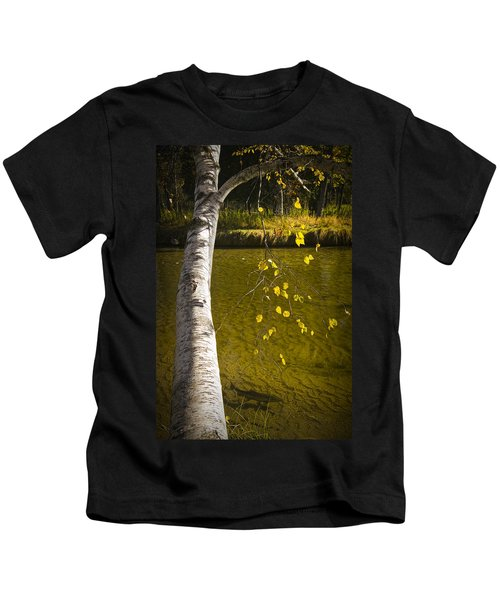 Salmon During The Fall Migration In The Little Manistee River In Michigan No. 0887 Kids T-Shirt