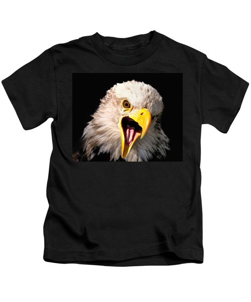 Screaming Eagle II Black Kids T-Shirt