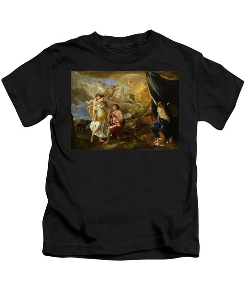 Selene And Endymion Kids T-Shirt by Nicolas Poussin
