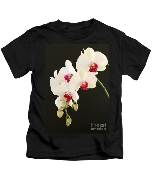 Spray Of White Orchids Kids T-Shirt