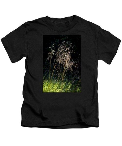 Sunlit Grasses. Kids T-Shirt