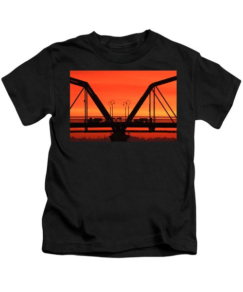 Sunrise Walnut Street Bridge Kids T-Shirt