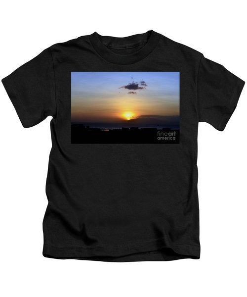 Sunset Upon The Ocean Number Two Kids T-Shirt