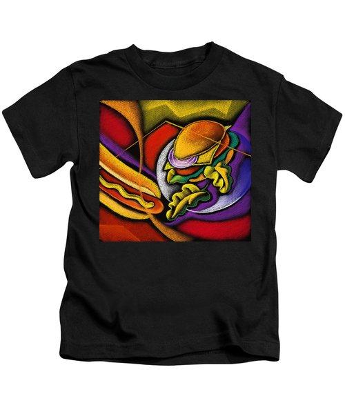 Lunchtime Kids T-Shirt by Leon Zernitsky