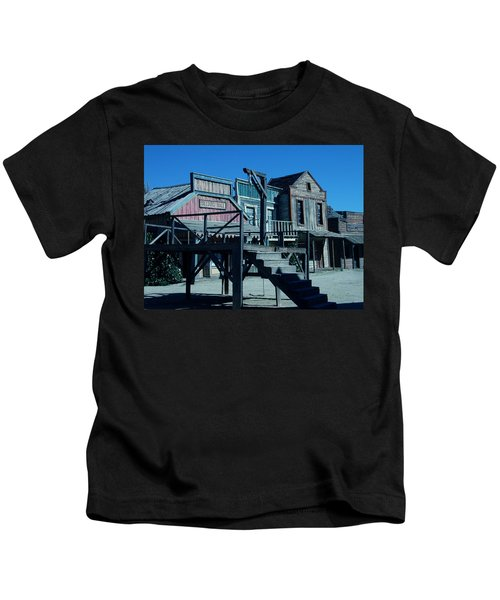 Kids T-Shirt featuring the photograph Taverna Western Village In Spain by Colette V Hera  Guggenheim