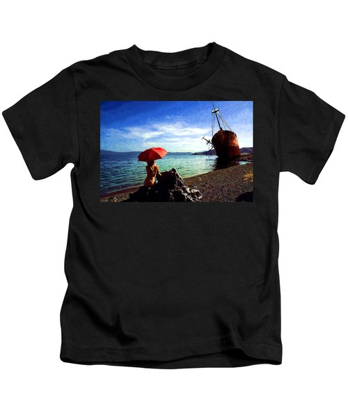 The Girl And The Shipwreck Kids T-Shirt