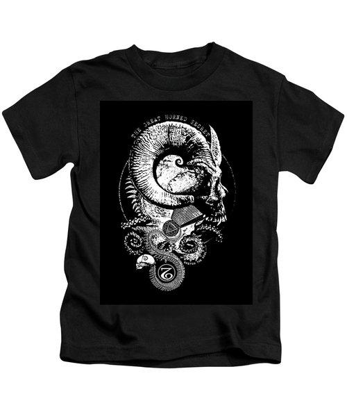 The Great Horned Secret  Kids T-Shirt
