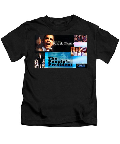 The People's President Kids T-Shirt by Terry Wallace