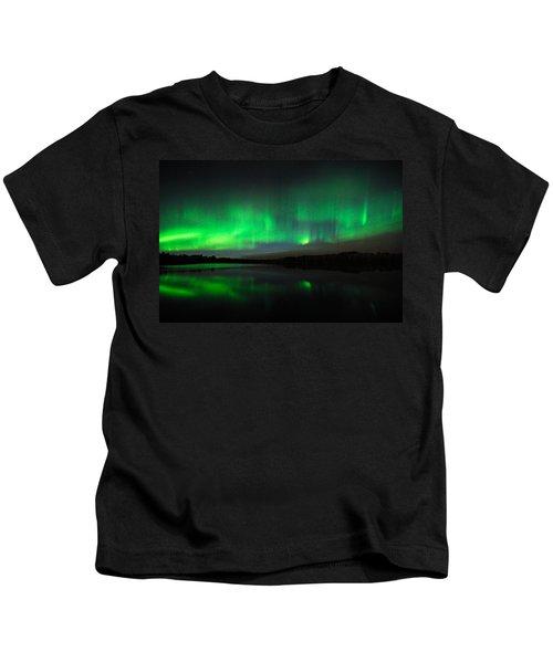 Tofte Lake Aurora Kids T-Shirt