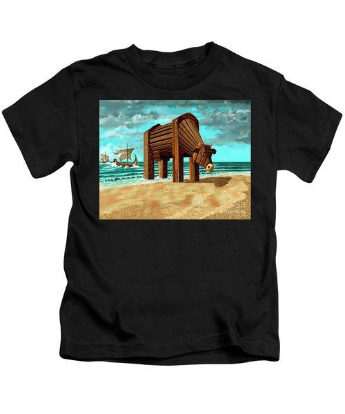 Trojan Cow Kids T-Shirt
