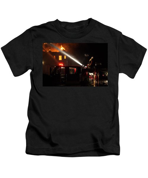 Water On The Fire From Pumper Truck Kids T-Shirt