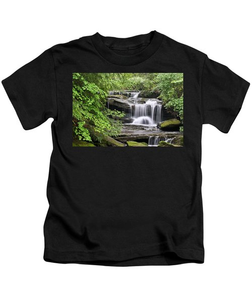 Waterfall Near Mabbitt Spring Kids T-Shirt