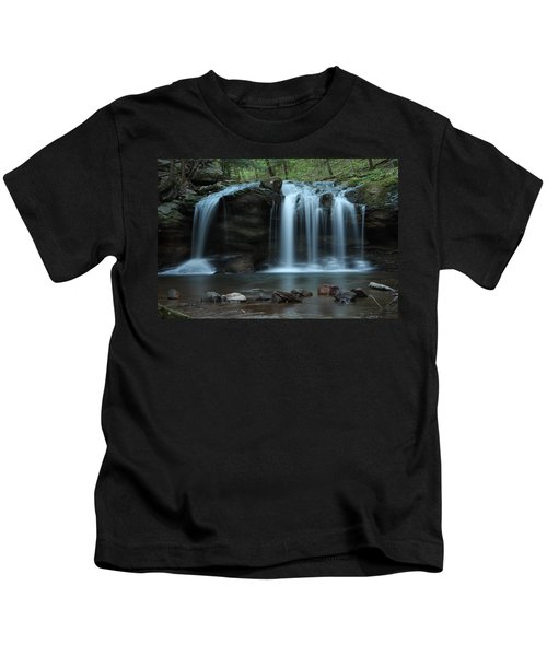 Waterfall On Flat Fork Kids T-Shirt