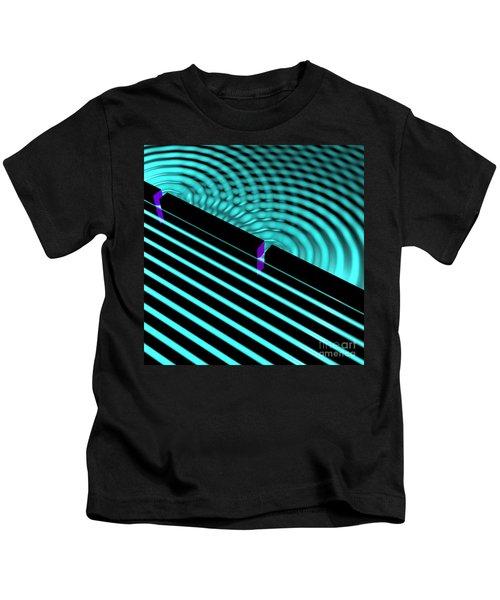 Waves Two Slit 4 Kids T-Shirt