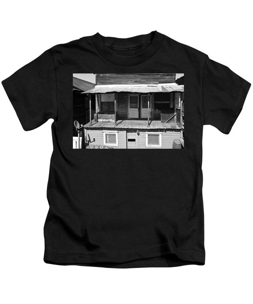 Weathered Home With Satellite Dish Kids T-Shirt