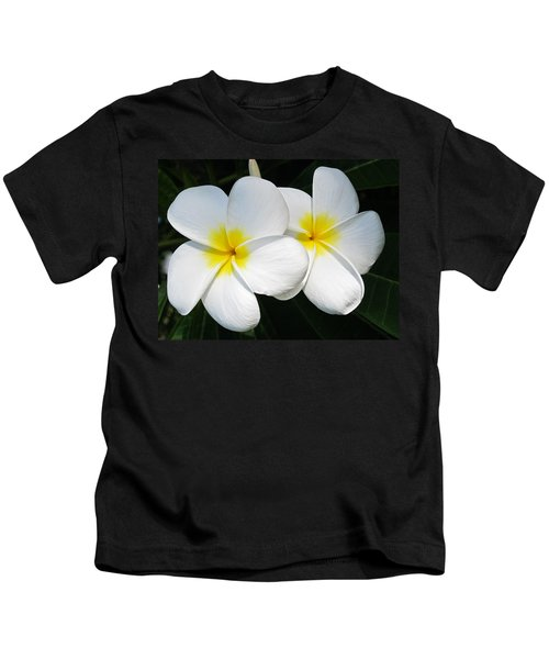 White Plumerias Kids T-Shirt