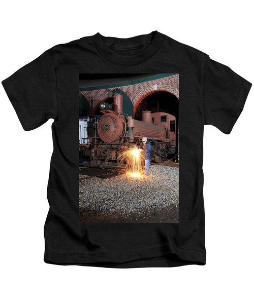Working On The Railroad Kids T-Shirt