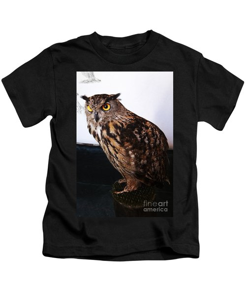Yellow-eyed Owl Side Kids T-Shirt