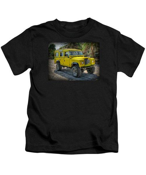 Yellow Jeep Kids T-Shirt